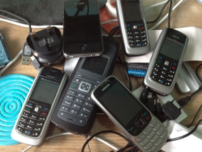 Excessive quantitity of phones.