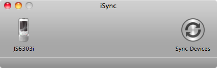 Nokia 6303i classic syncing in iSync