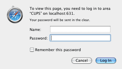 CUPS Authentication