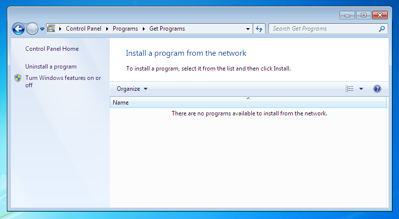 Windows 7 Add Programs